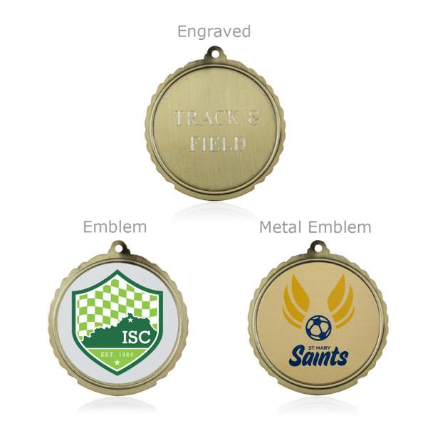 """Soccer 1 3/4""""  Wreath Medal"""