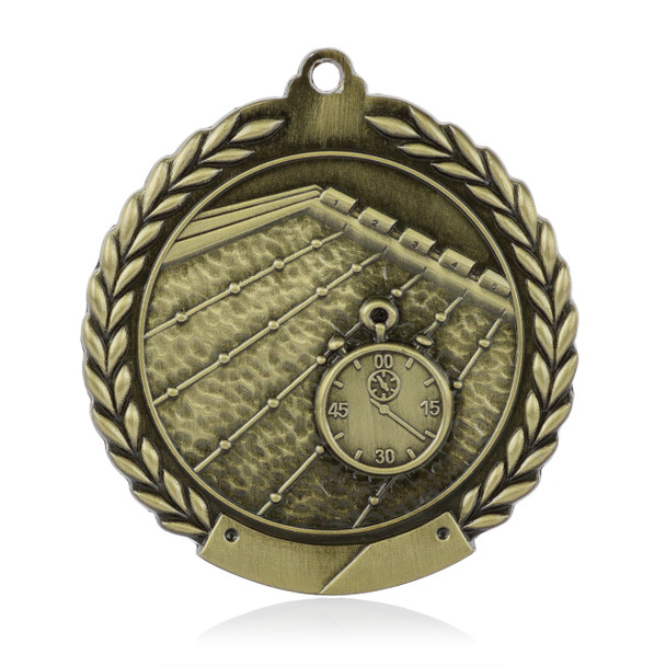 "Swimming 1 3/4""  Wreath Medal"