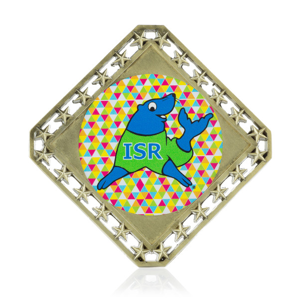 Stars Diamond Medal with Custom Emblem