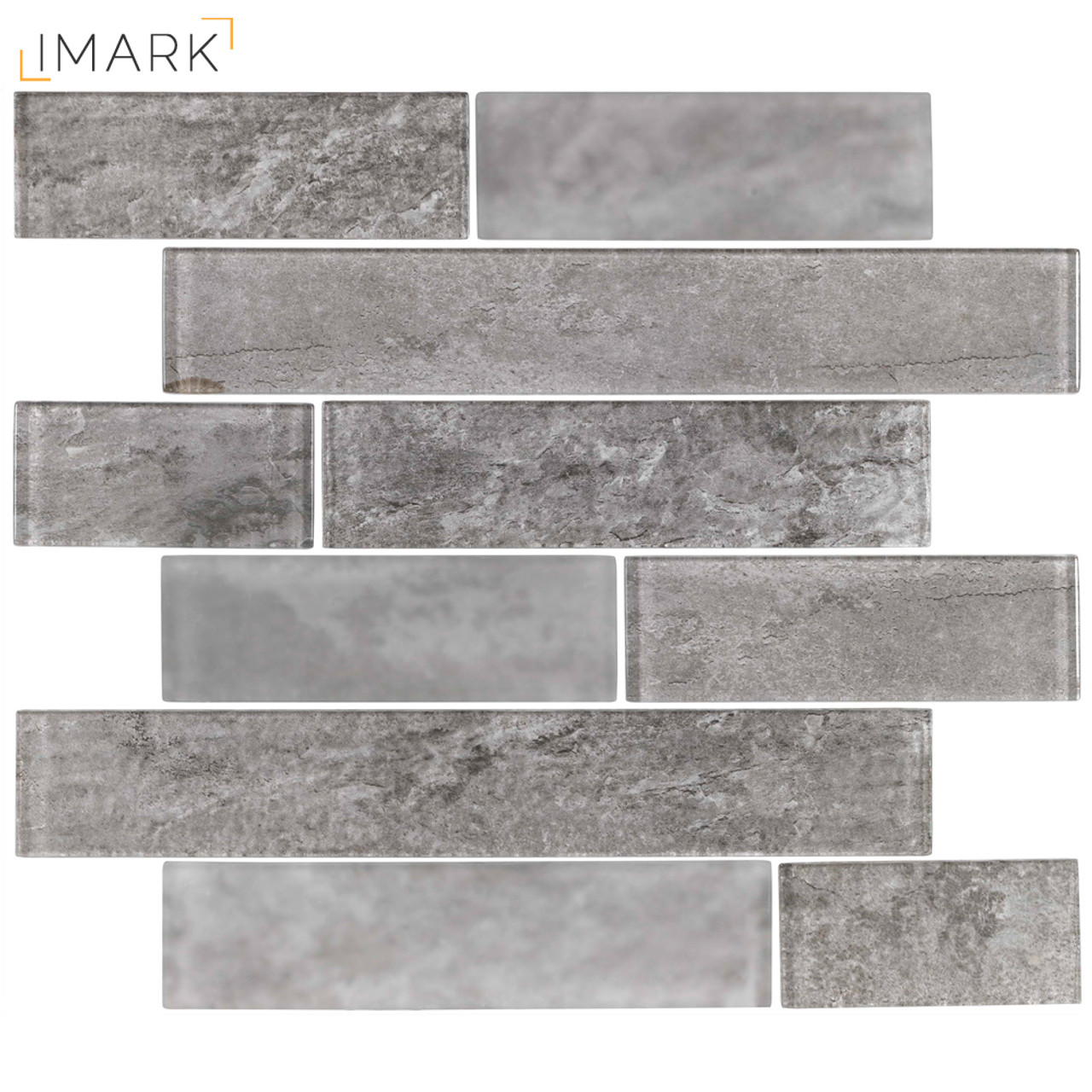 Loft Ash Grey Subway Tile Patterns Glass Mosaic Tilling