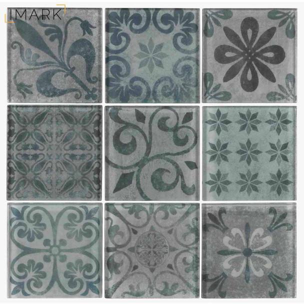 Dekor Premium Mosaic Skleněn 233 Obklady Mix Barev 30x30 Cm