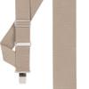 Tan Side Clip Suspenders - Construction Clip