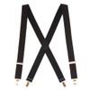 Polka Dot Suspenders - Khaki on Black 1.5 Inch Wide Clip