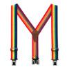 Rainbow Striped Belt-Clip Suspenders - 2 Inch Wide