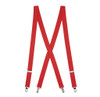 1 Inch Wide Clip Suspenders (X-Back) - RED