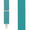 1.5 Inch Wide Clip Suspenders - TEAL