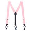 Light Pink Grosgrain BUTTON Suspenders