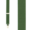 1 Inch Wide Clip Suspenders (X-Back) - BRIGHT OLIVE