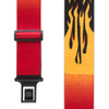 Orange Flames Suspenders - Perry Belt Clip