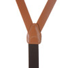 All Leather Button Suspenders - NATURAL