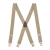 1.5 Inch Wide Pin Clip Suspenders - TAN