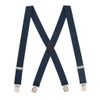 NAVY 1.5 Inch Wide Pin Clip Suspenders
