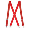 Red Glitter Suspenders - 1 Inch Wide