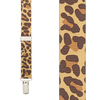 Leopard Print Suspenders for Kids - 36 Inch Only