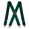 2 Inch Wide Construction Clip Suspenders - GREEN