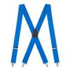 1.5 Inch Wide Clip Suspenders - ROYAL BLUE