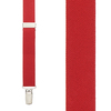 1 Inch Wide Clip Suspenders (Y-Back) - RED