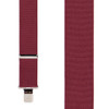 2 Inch Wide Construction Clip Suspenders - BURGUNDY