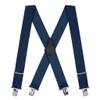 2 Inch Wide Construction Clip Suspenders - NAVY BLUE