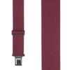 Burgundy Perry Suspenders - 2 Inch Wide Belt Clip