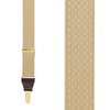 Tan Jacquard Suspenders - Checkers Clip