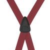 Burgundy Jacquard Suspenders - Checkers Clip