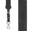 Basketweave Western Leather Suspenders - BLACK