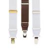 1.25 Inch Wide X-Back Clip Suspenders w/Dressy Drop Clip