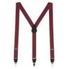 1.25 Inch Wide Y-Back Clip Suspenders - BURGUNDY
