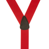 1.5 Inch Wide Button Suspenders - RED