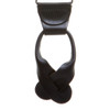 Braided Leather Herringbone Button Suspenders - BLACK