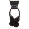 Burgundy French Satin Suspenders - 1.5 Inch Wide Button