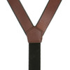Plain All Leather Galluses - BROWN