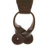 Herringbone Braided Leather Button Suspenders - BROWN