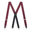 Burgundy Grosgrain CLIP Suspenders