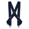 Navy Blue Side Clip Suspenders - Construction Clip