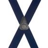Navy Blue Brass Clip Suspenders - 1.5 Inch Wide