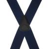 1.5 Inch Wide Clip Suspenders - NAVY BLUE