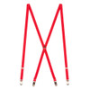 3/4 Inch Wide Thin Suspenders - RED (Matte)