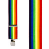 Rainbow Striped Clip Suspenders - 2 Inch Wide