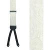 Ivory Formal Paisley Silk Suspenders - Runner End