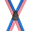 USA Stars and Stripes Suspenders - 1.5 Inch Wide, Clip