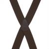1.5 Inch Wide Pin Clip Suspenders - BROWN