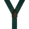 1.5 Inch Wide Button Suspenders - Solid Colors