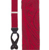 Large Paisley Silk Suspenders - Button