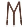 1.25 Inch Wide Y-Back Clip Suspenders - BROWN