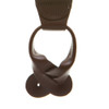 Brown Buckle Strap Leather Suspenders - Button