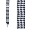 Grosgrain Houndstooth Suspenders - Drop Clip