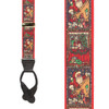 Kris Kringle Christmas Suspenders - Button