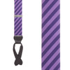 Purple/Navy Diagonal Stripe Silk Suspenders